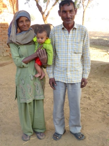 The servant with his wife and his 3-month old baby