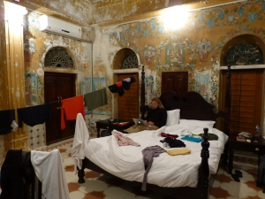 A beautiful room misused for some laundry drying