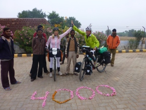Celebrating our 4,000 cycled kilometers!