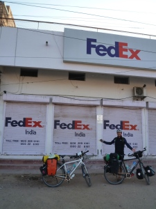 A deserted FedEx station at Jodhpur's outskirts