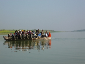 Crossing the Chambal river