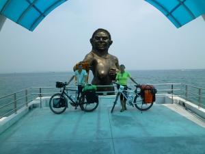 Mermaid's welcome at the pier on Ko Samet