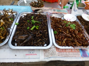 ...yummy grilled insects for lunch,....