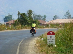Empty Cambodian roads