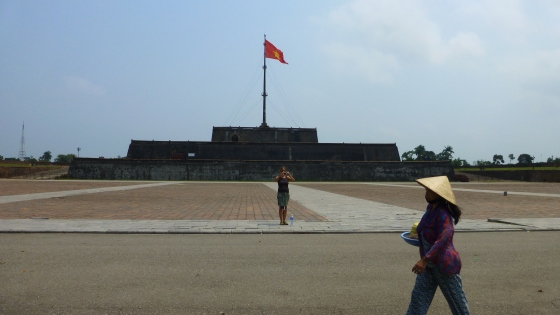 Flag tower in front of the imperial city