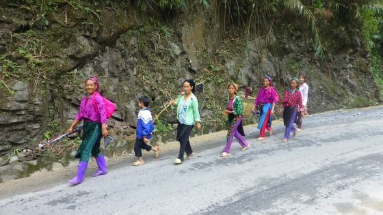 Ethnic minority people in their colorful dresses
