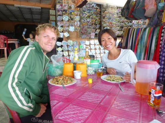 Alex and Asako at breakfast