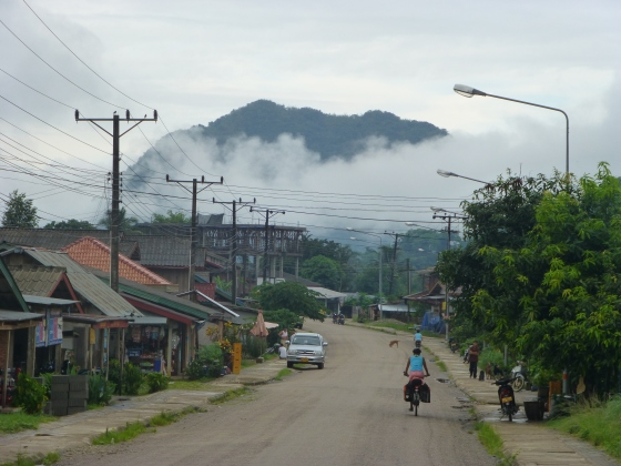 Leaving Vang Vieng in the early morning