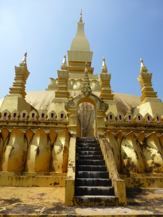 Pha That Luang, a symbol of both the Buddhist religion and Lao sovereignty