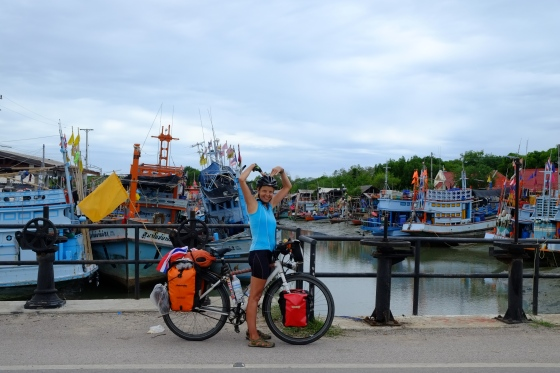 My t-shirt matches perfectly with the color of the boats ;-0