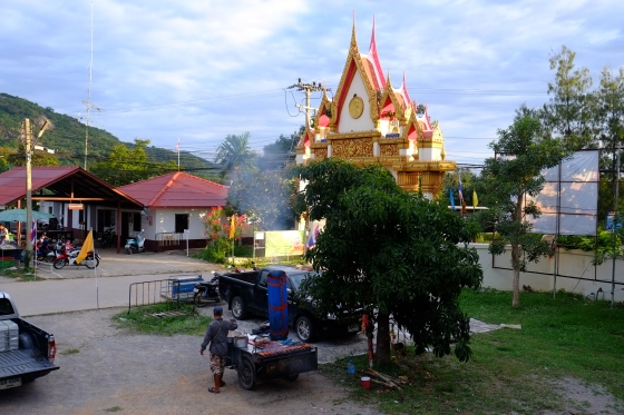 Market view in front of the temple