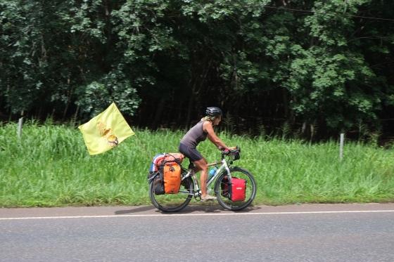 I'm cycling....