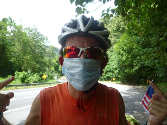 Unfortunately we had to wear mask again, too much car exhaust