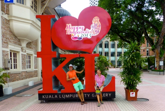 In front of the KL museum