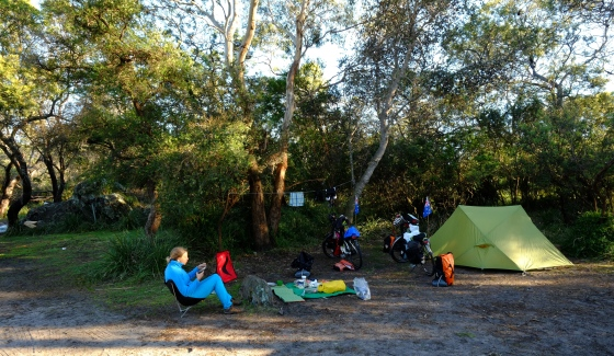 Our camp by the river