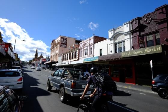 Cycling Hobart
