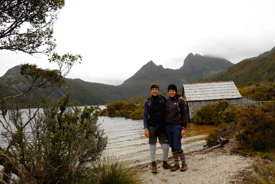 We finally see Cradle mountain in the background