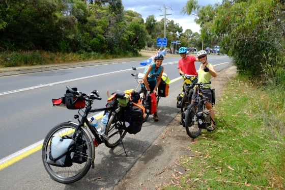 Two Swiss cyclists we met on the Great Ocean Road