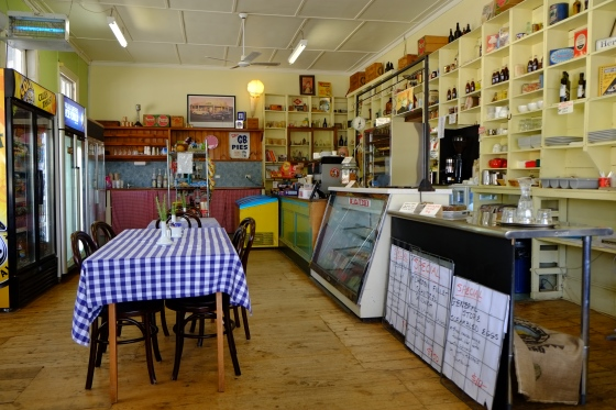 One of these lovely grocery stores also serving as the local cafe and bakery