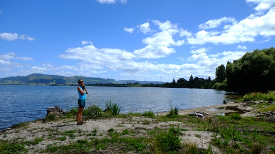 Arrived at Rotorua lake