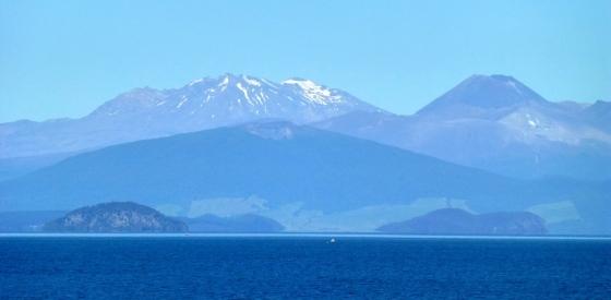 Blick von Taupo auf Mount Tongariro
