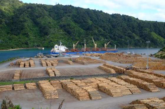 Logging harbor