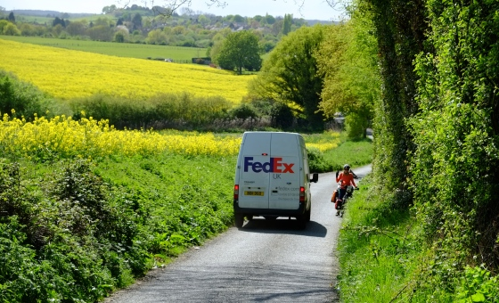 FedEx seems to be everywhere in England, even in the middle of nowhere