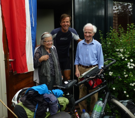 Johan and his parents, flying the Dutch flag ;-)