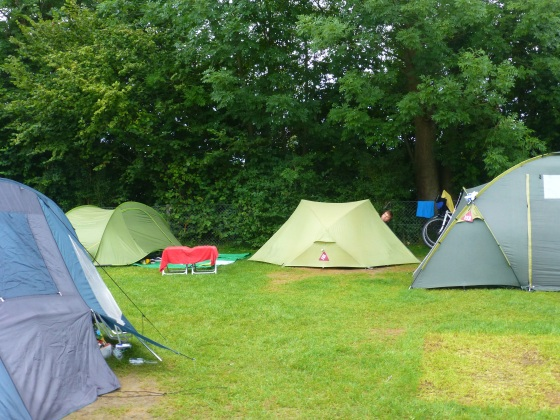 The far too busy campsite