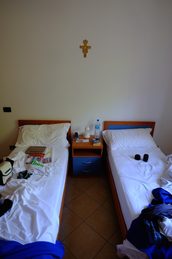 Our little bedroom at the monastery